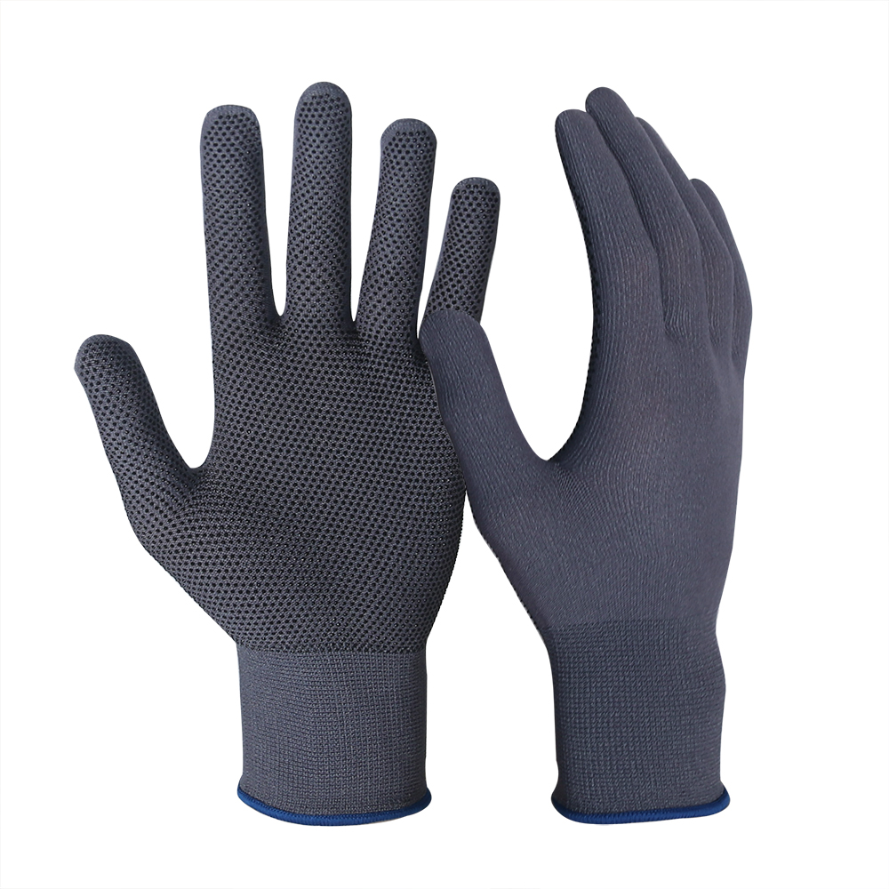 Nylon Gloves with PVC Doted/MWG-006-G