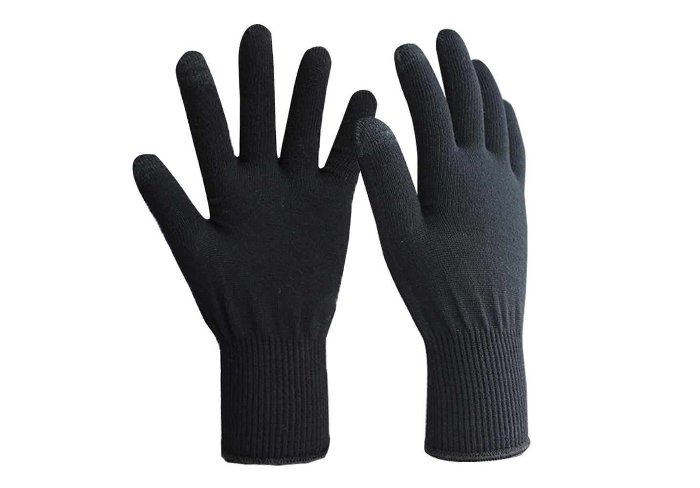 13G Merino Wool Yarn Touch Screen Glove/MWG-001-Touch