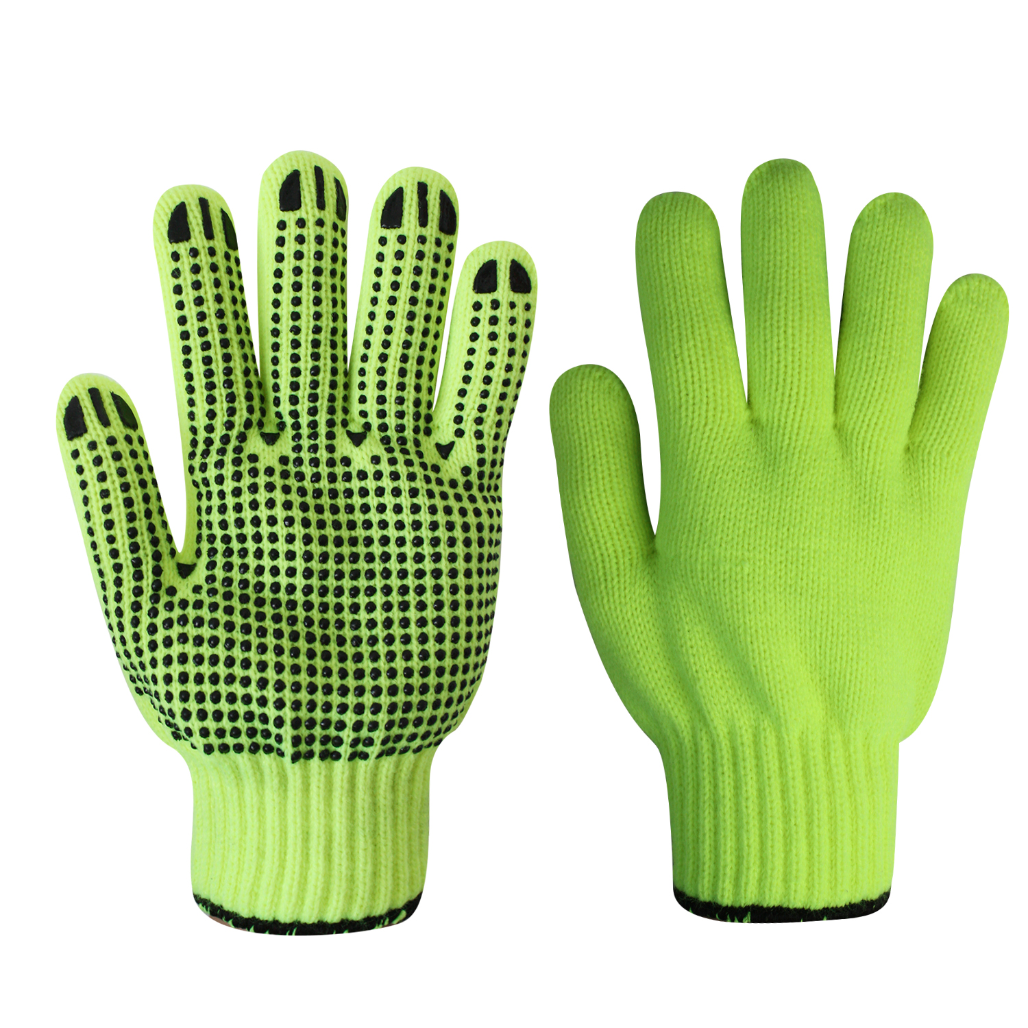 String Knit Safety Work Gloves/Acryic Gloves With Dots/SKG-01-I