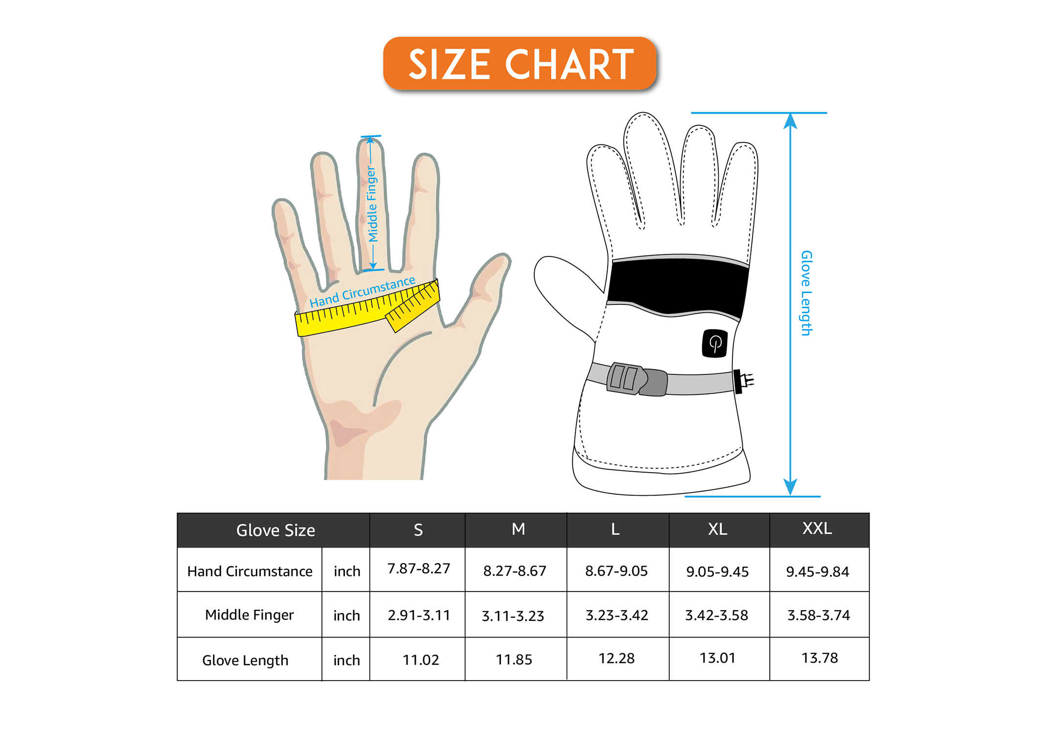 Heated Gloves with Battery/EHG-005