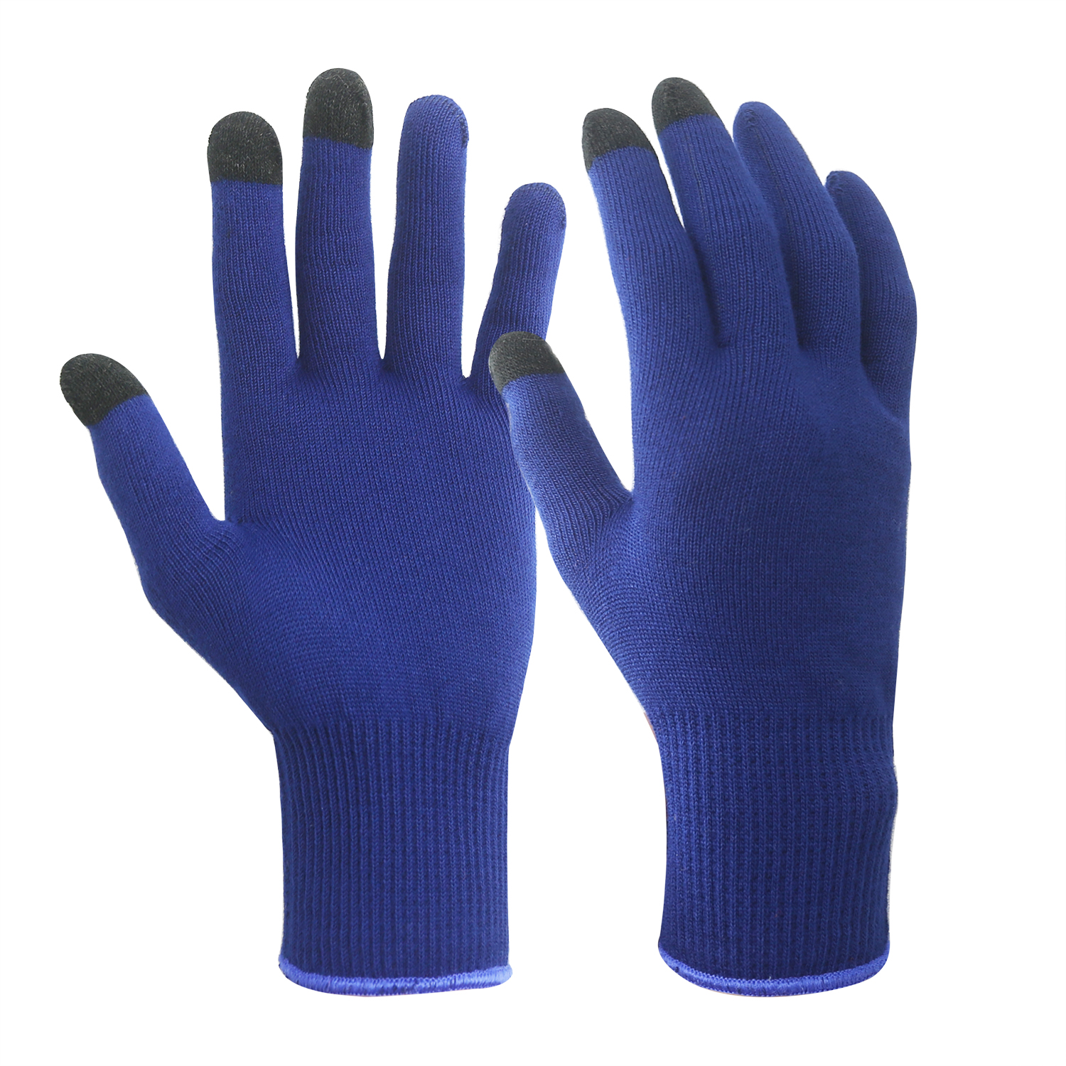 Blue Thermolite Yarn Gloves with Touch Screen Finger/TYG-002-BT