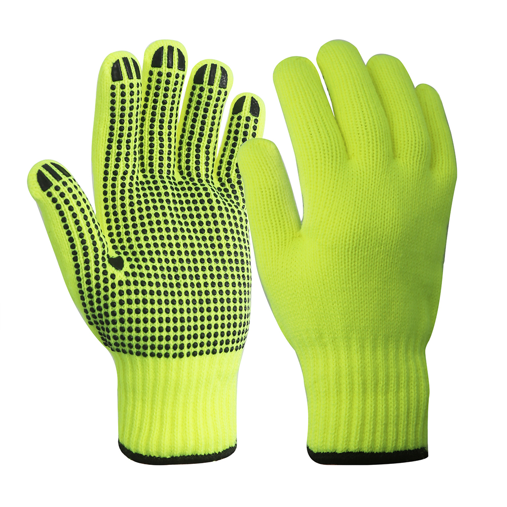 7G Acrylic Gloves with PVC on Palm/SKG-018
