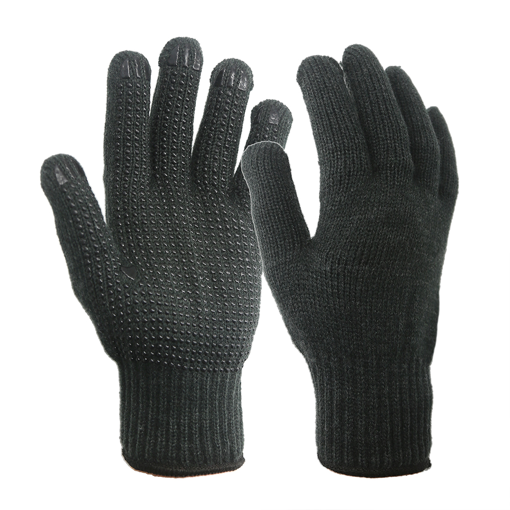 7G Acrylic Gloves with PVC on Palm/SKG-019