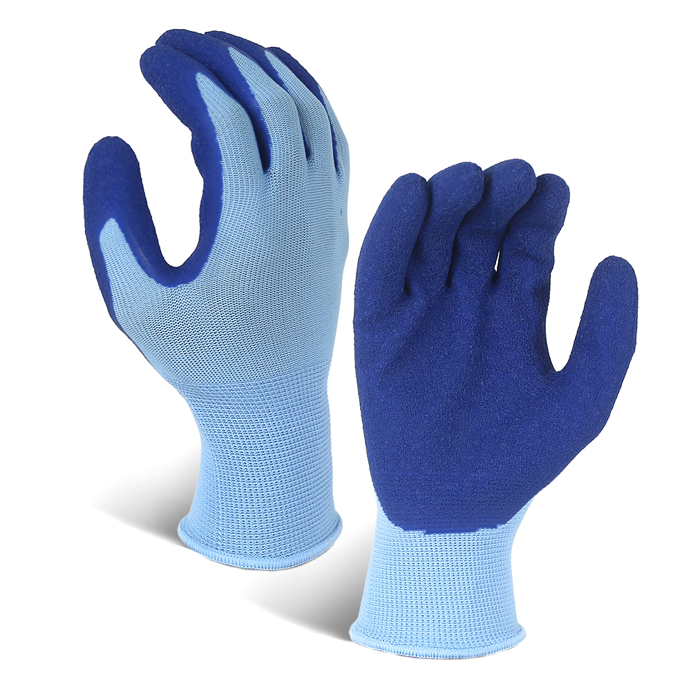 Latex Coated String Knit Polyester Work Gloves/LCG-016-U