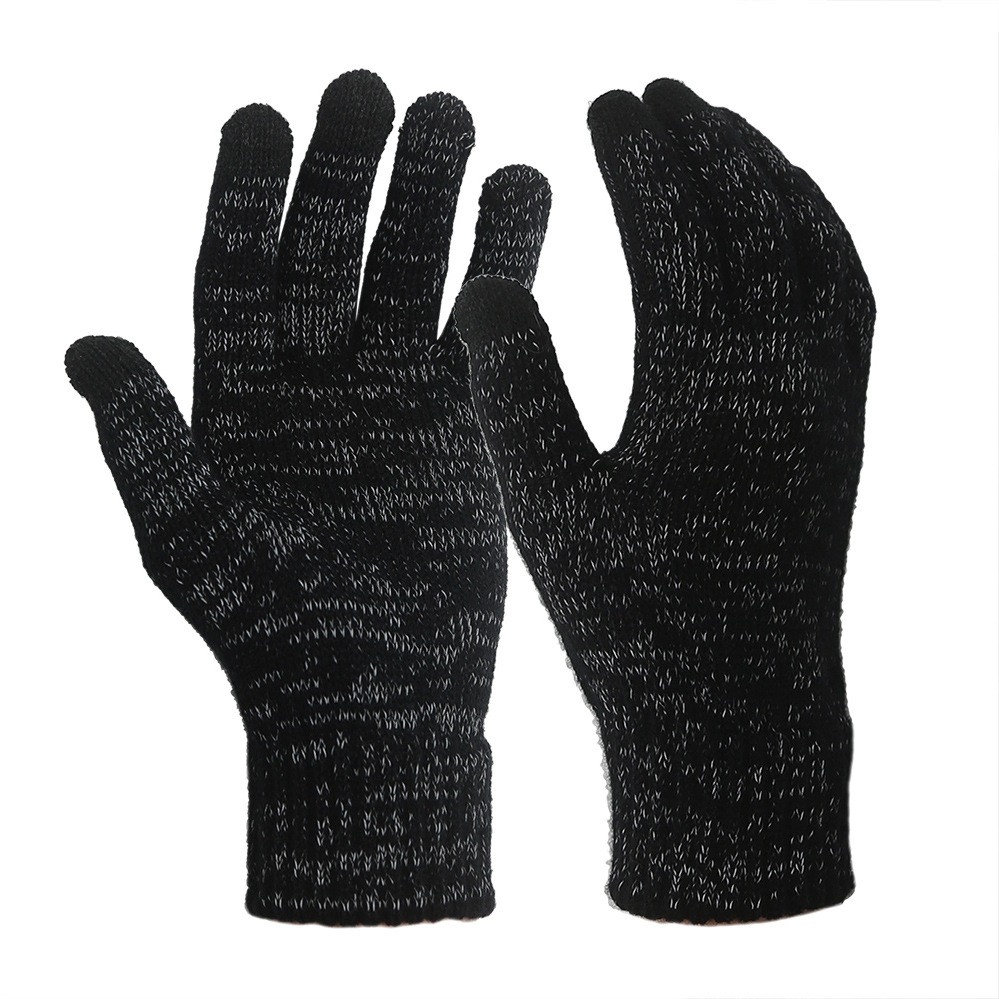 Touch Screen Reflective Yarn and Acrylic Gloves/MWG-009