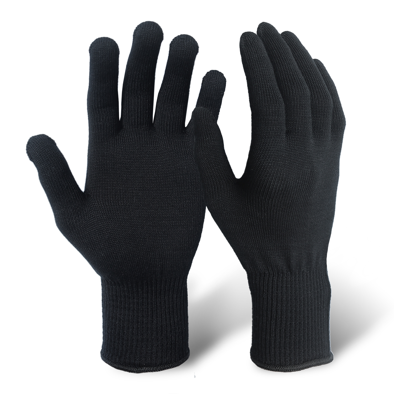 Black Silk Gloves for Liner/MWG-007