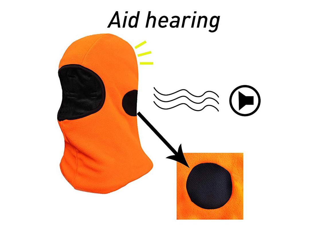 Hi-Vis Orange Micro fleece Balaclava with 3M Thinsulate/HHL-008