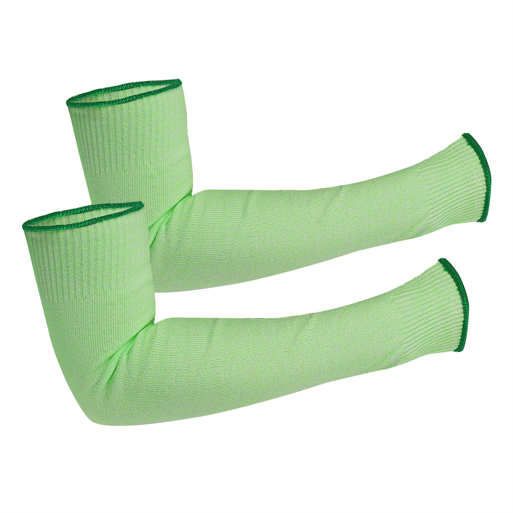 Green HPPE Cut Resistant Work Sleeves/CRS-005