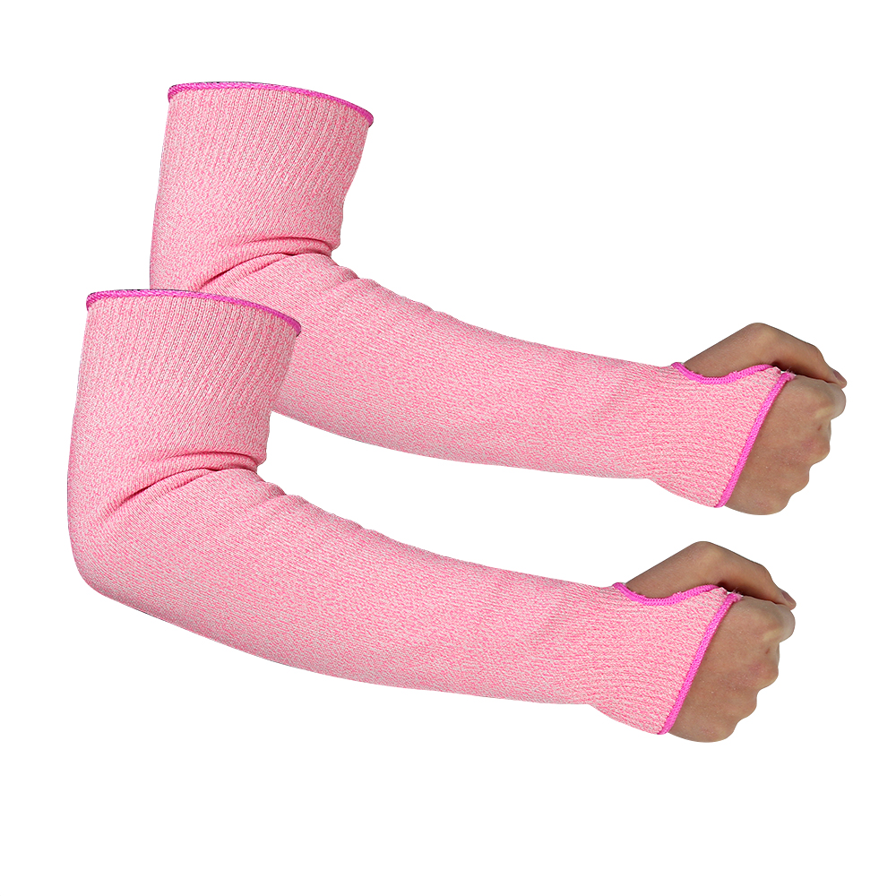 Pink HPPE Sleeves for Cut proof/CRS-009