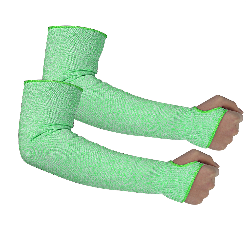 Green HPPE Sleeves for Cut resistant/CRS-010