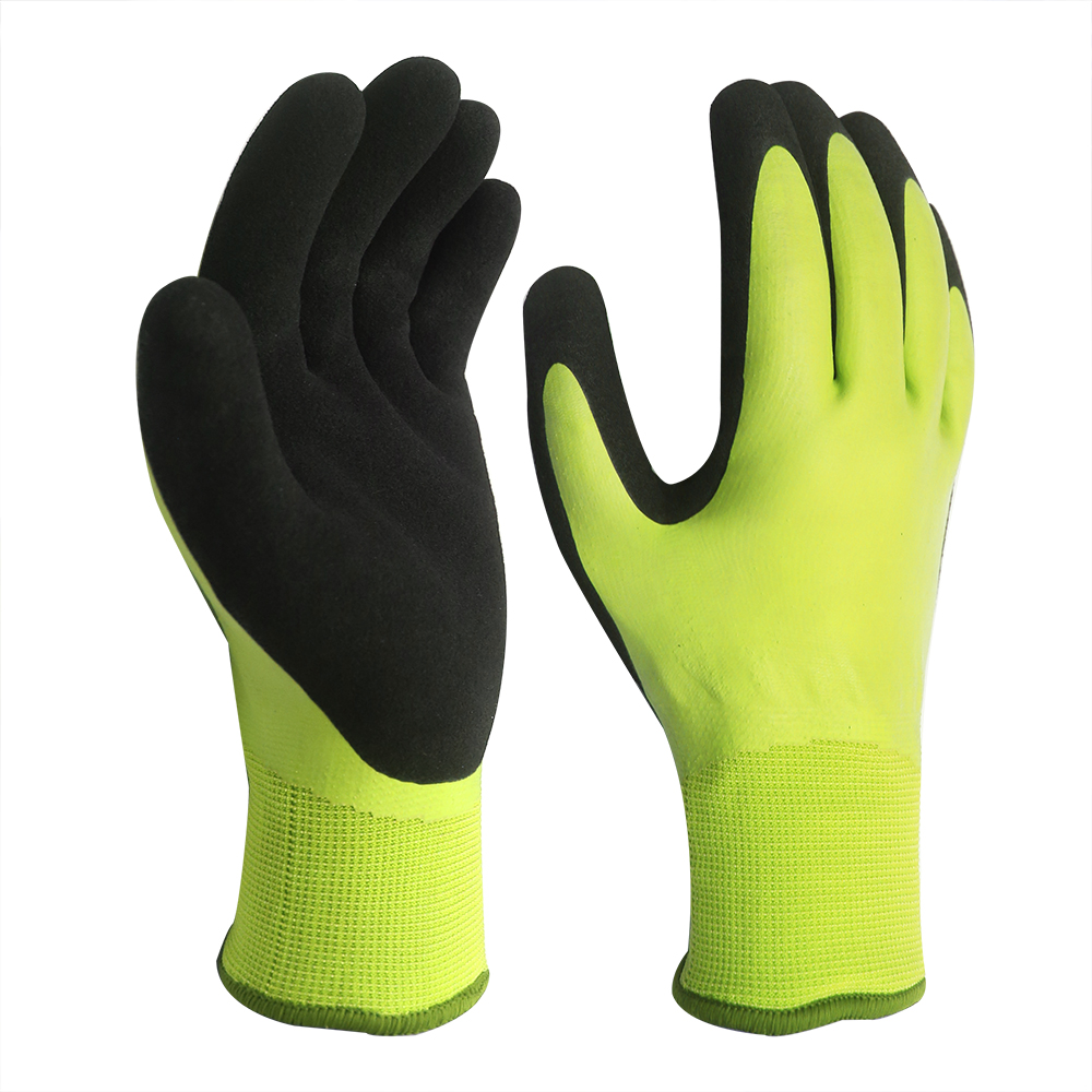 Waterproof Gloves with Double Latex Coated/WPG-003-Y