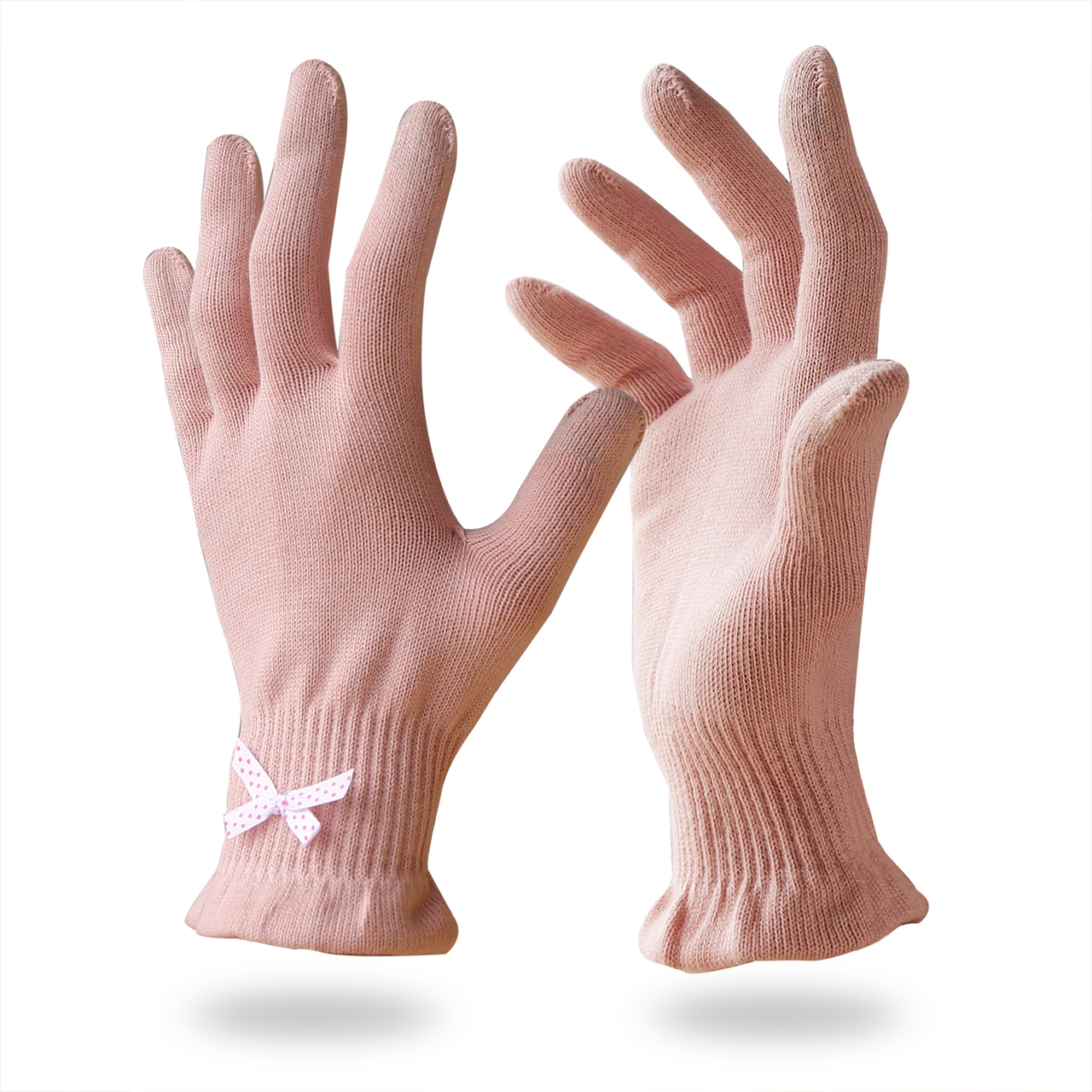 Beauty Cotton Gloves with Touchscreen Fingers for Women/BCG-001
