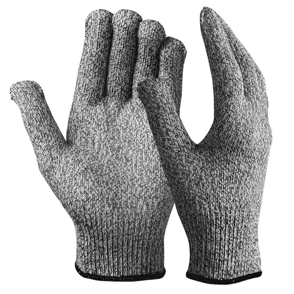 CE EN388 13G Gray Elastic Hand and High Quality Durable Safety Dexterity HPPE Cut Protective Gloves for Sculpture