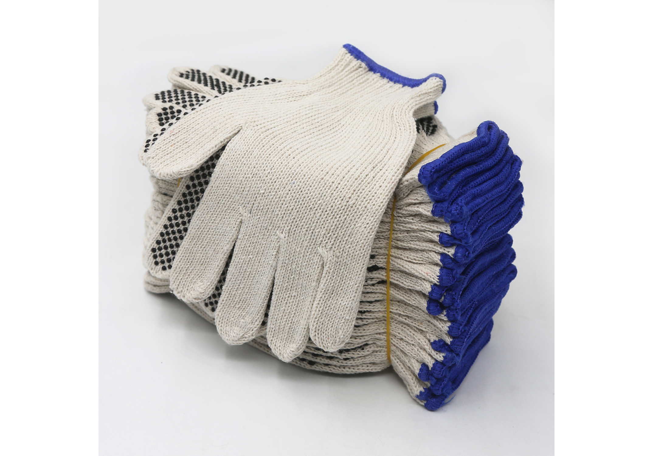7G Lightweight String Knit Glove with PVC Dots on palm/SKG-026