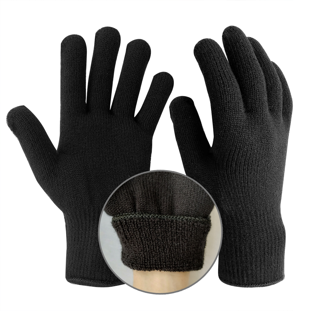 Double Knit Acrylic Gloves with Terry Loop Liner/SKG-029