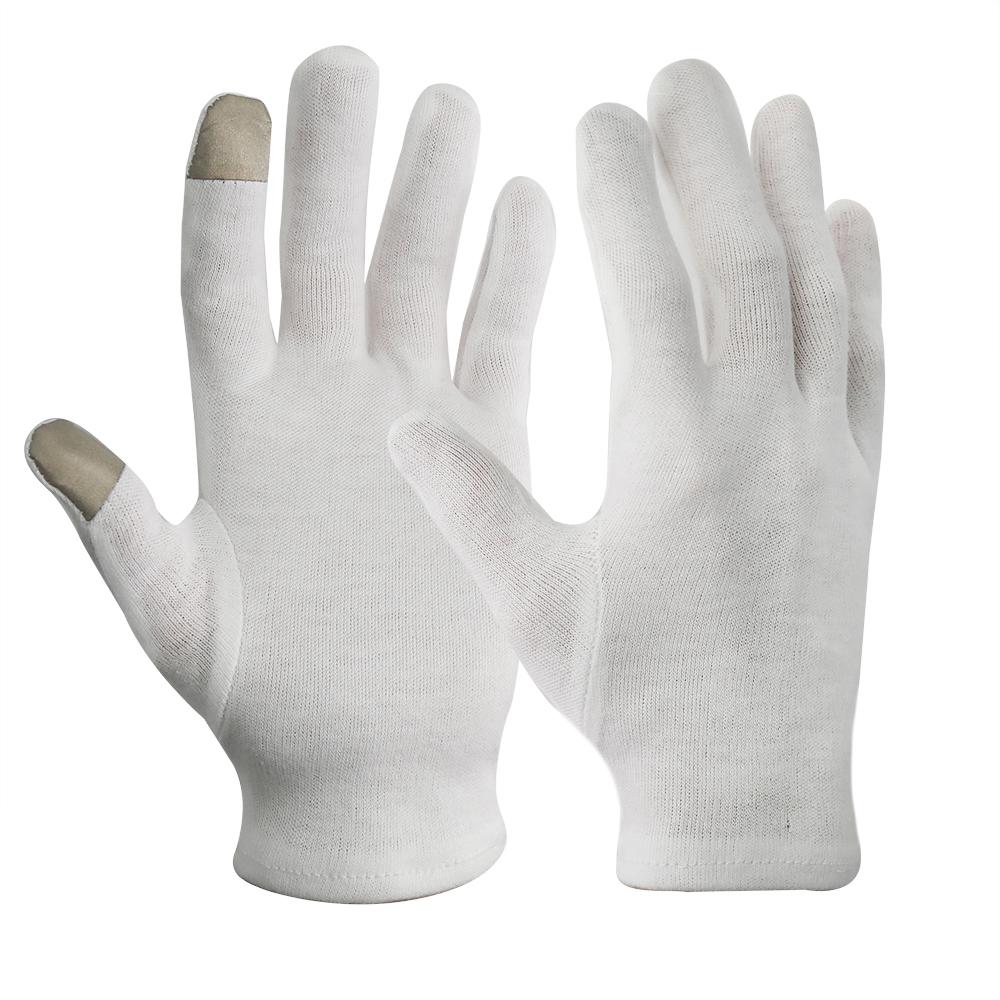 「タッチスクリーン」白手袋 スムス手袋 作業用手袋 品質管理用 ドライバー手袋 警備手袋 運転 タクシー運転手 バス運転手 検品作業