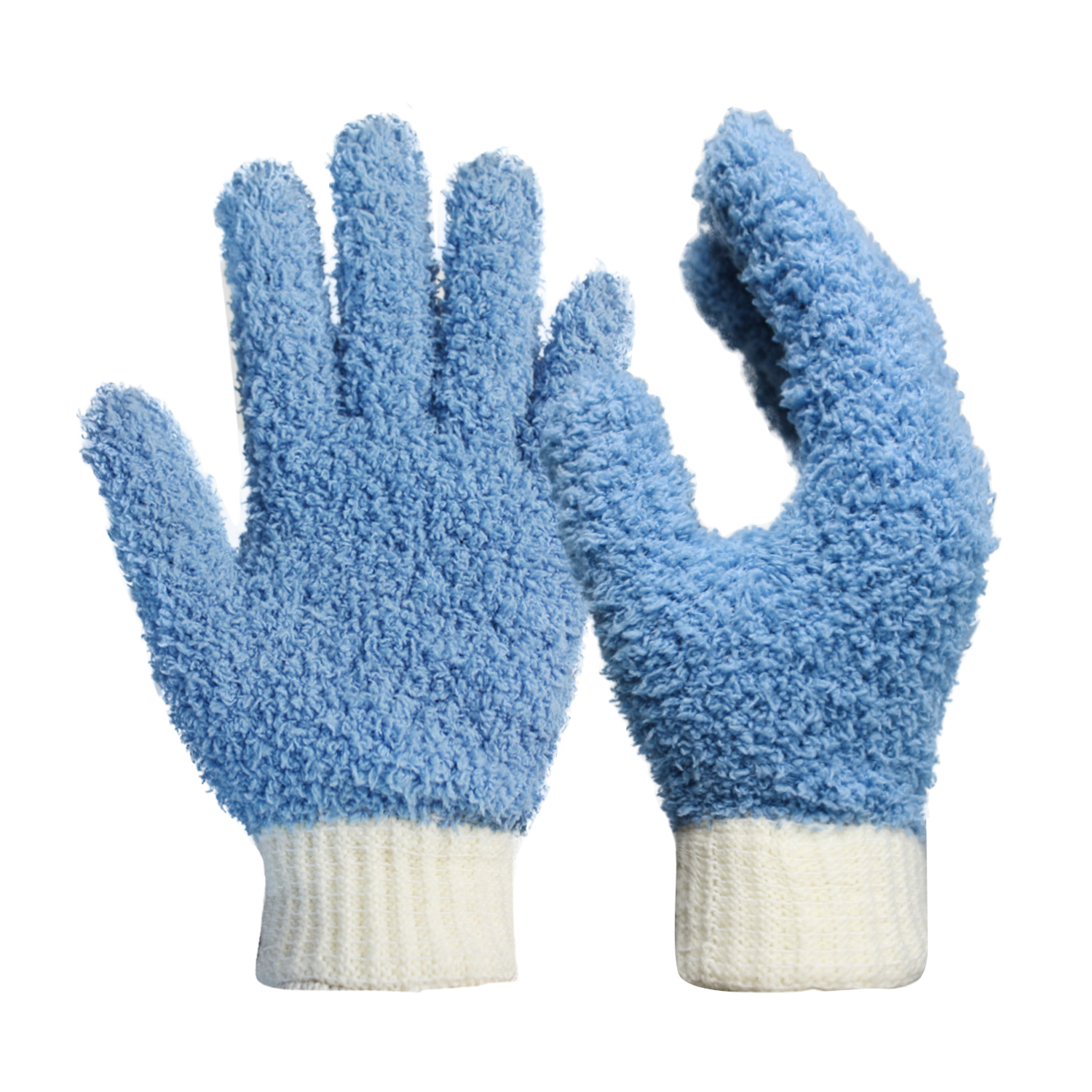 100% Microfiber Polyester Cotton Rib Cuff Dust Cleaning Clean Room Gloves