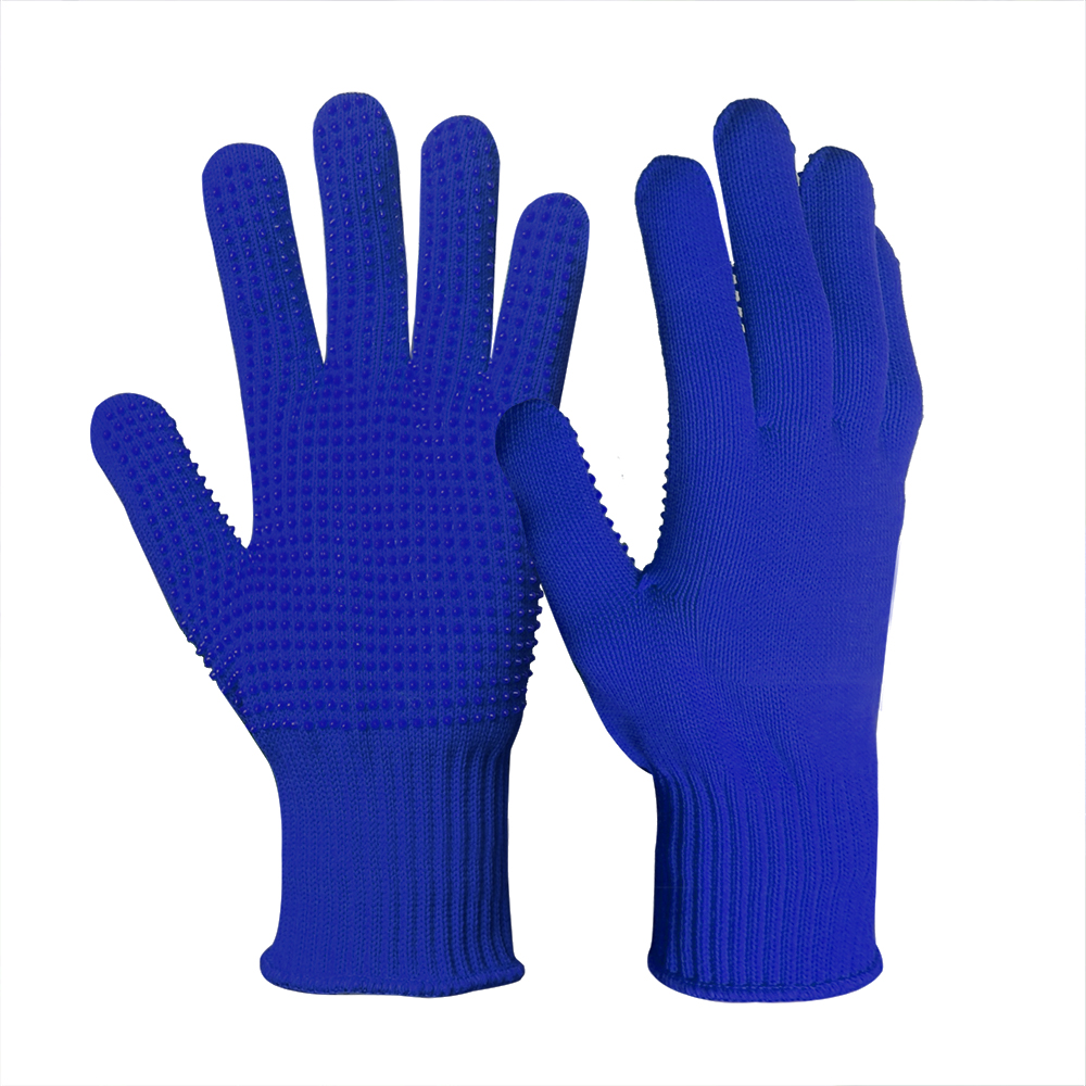 13G Polyester Glove with PVC Dots on palm/SKG-031