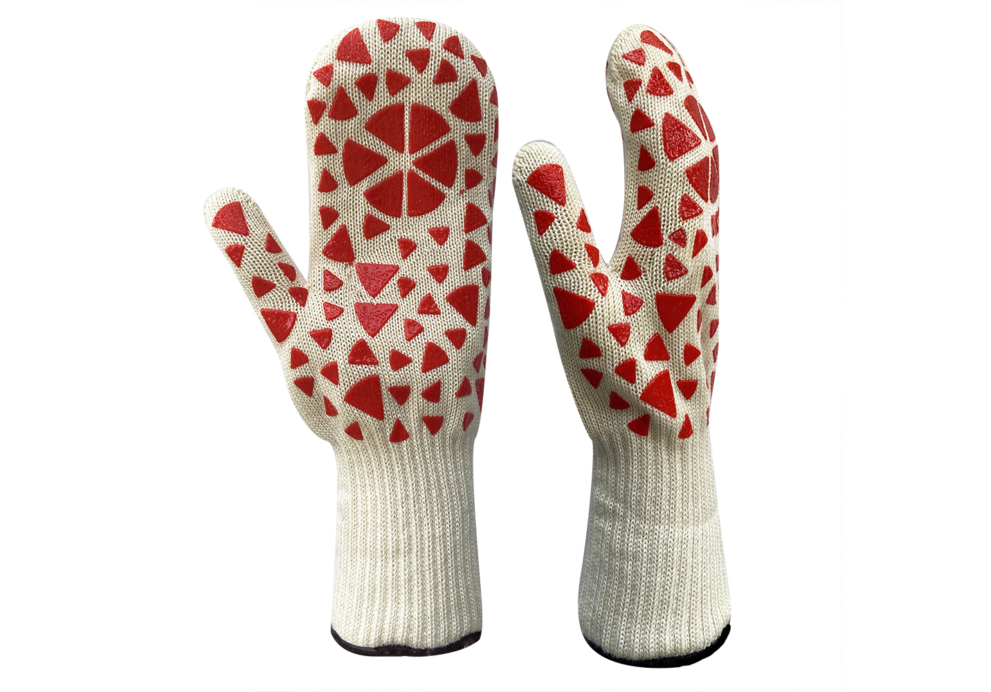 Heat Resistant Mitt with Silicone Pattern/HRG-025