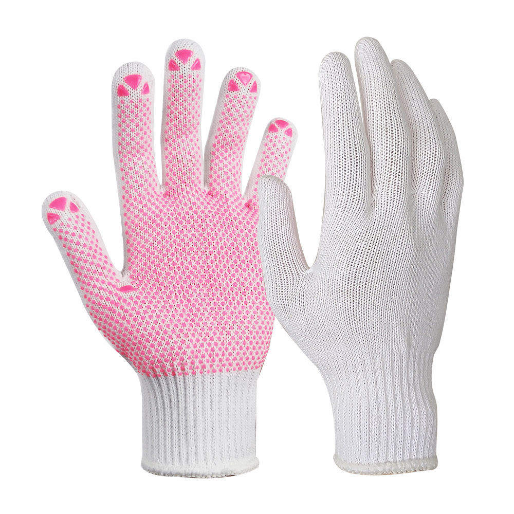 Light Weight 10G Bleach White Poly/Cotton Gloves/SKG-032