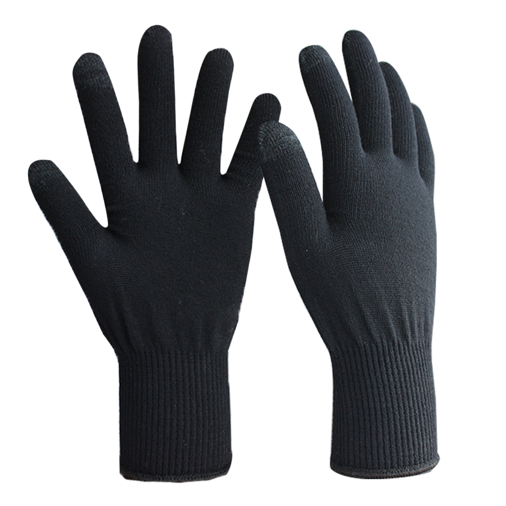 13G Conductive 2 Fingertips Merino Wool Yarn magic Stretch Touch Screen Gloves