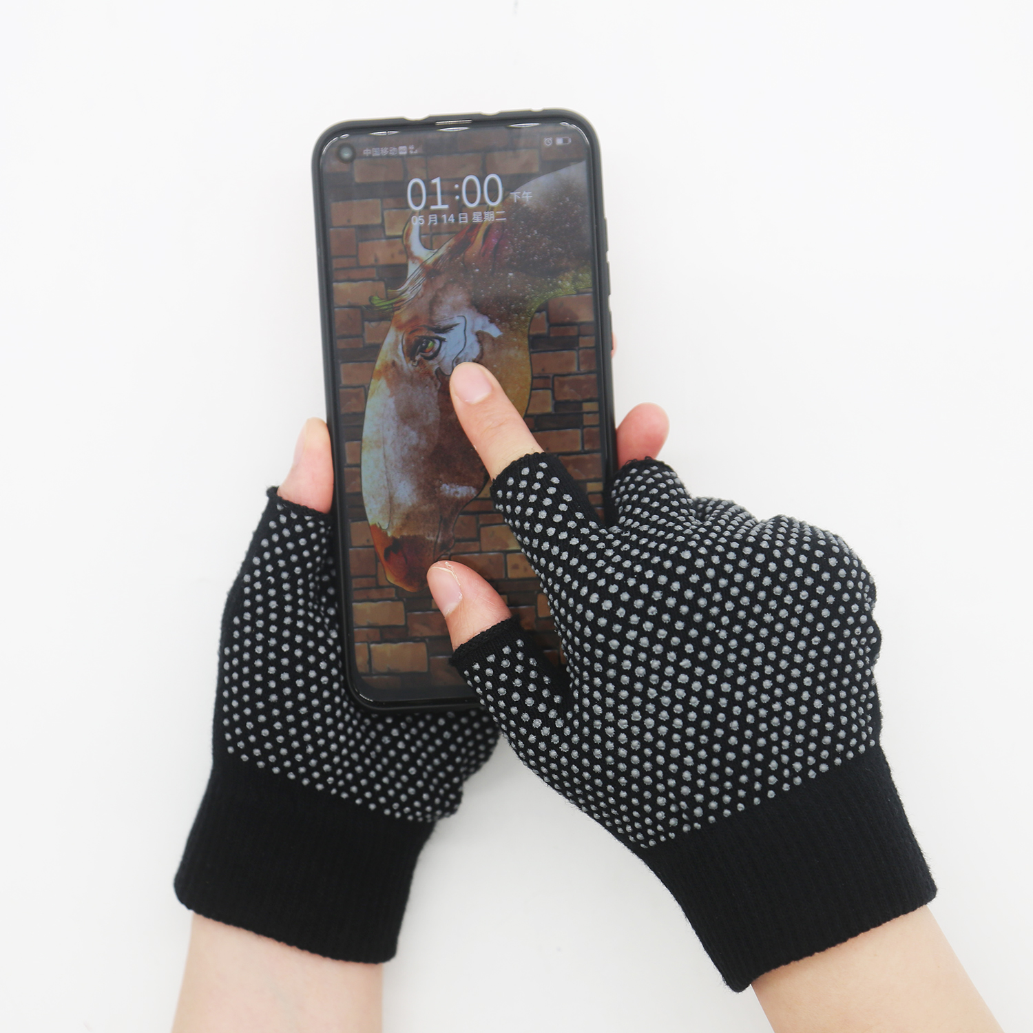 Fingerless Yoga Non-slip Smartphone Touch Screen Gloves
