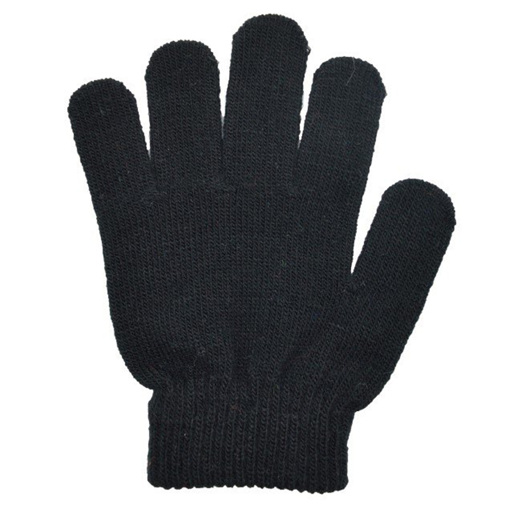 Black Acrylic Stretchable Magic Knit Cold Protection Gloves