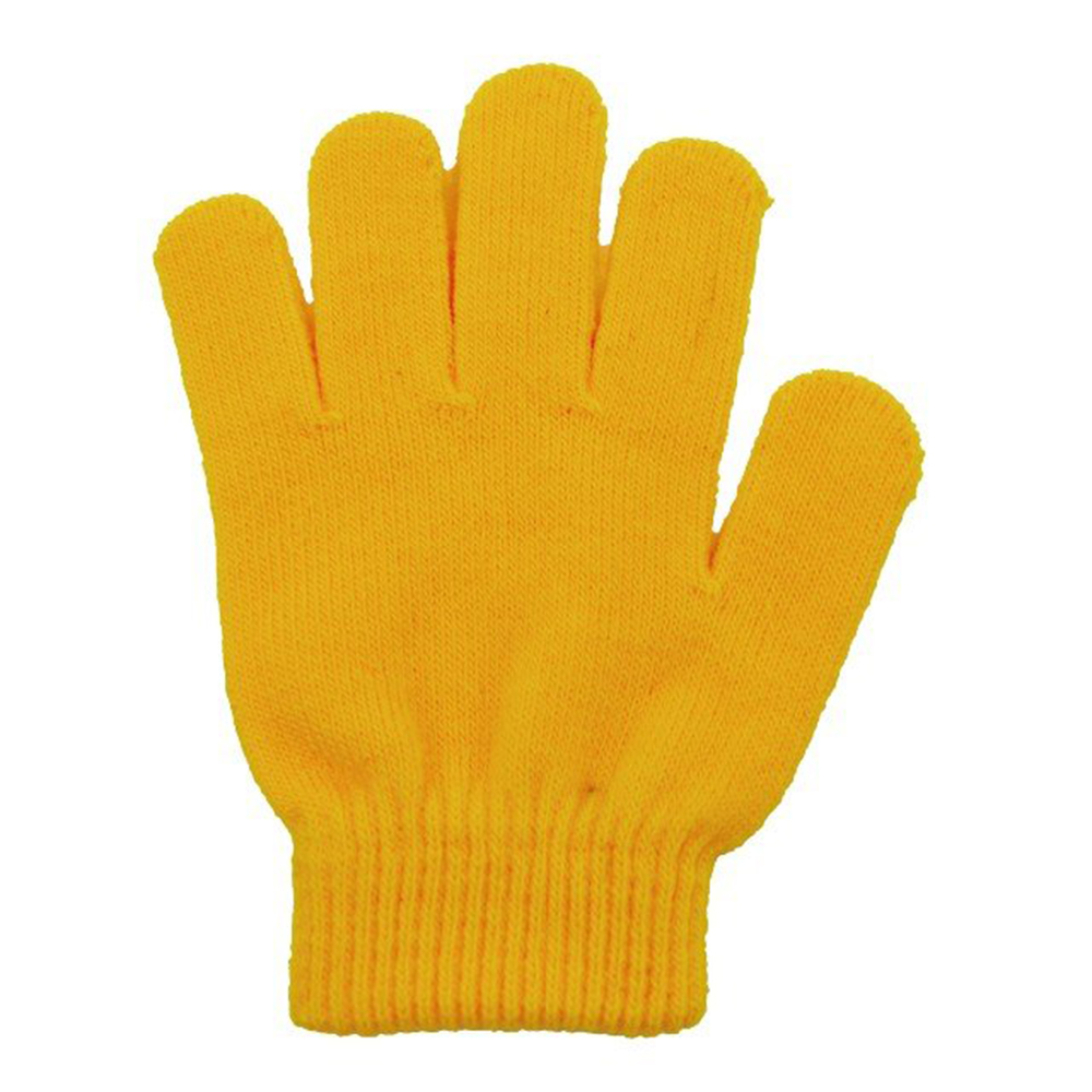 Yellow Acrylic Stretchable Magic Knit Cold Protection Gloves