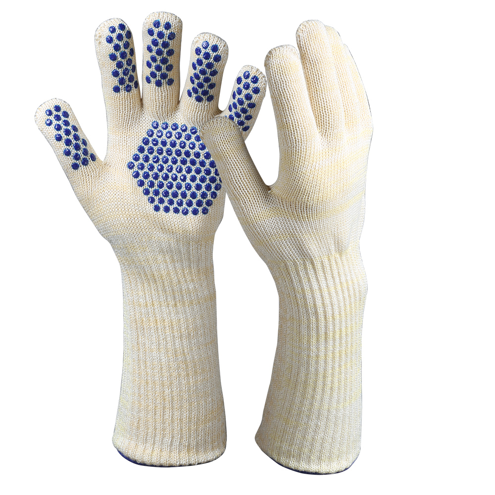 Dotted BBQ Heat Resistant Gloves