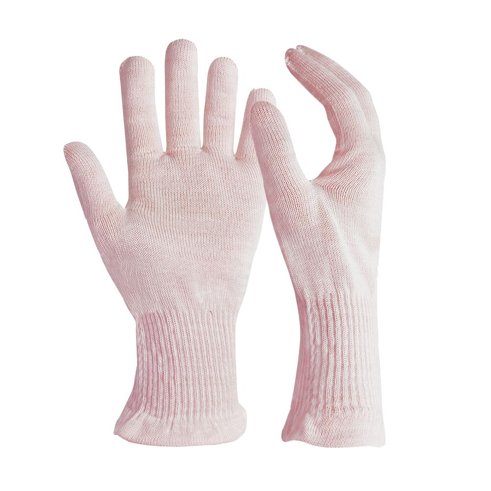 Pink Silk Beauty Gloves for Women SPA