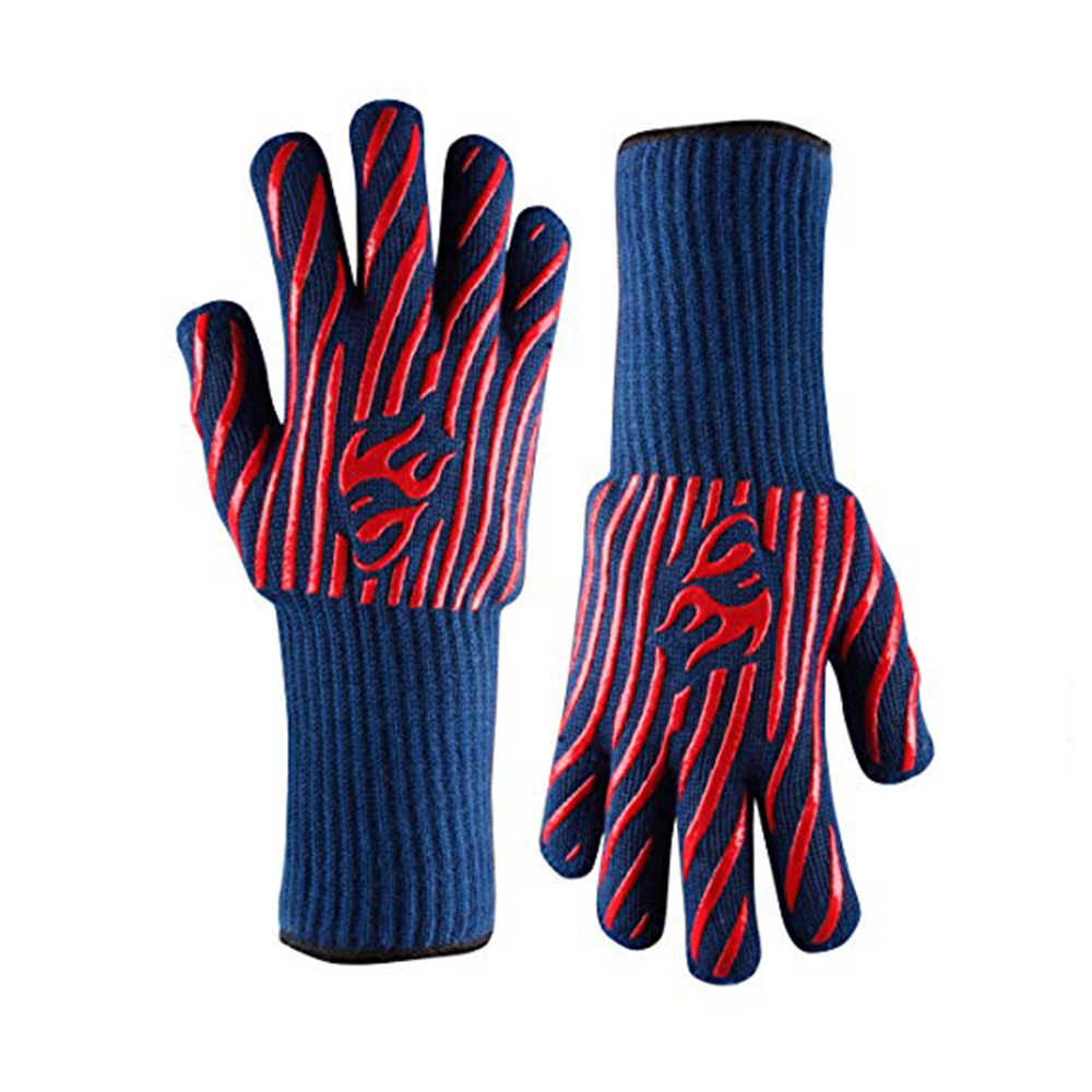 Color BBQ Heat Resistant Gloves