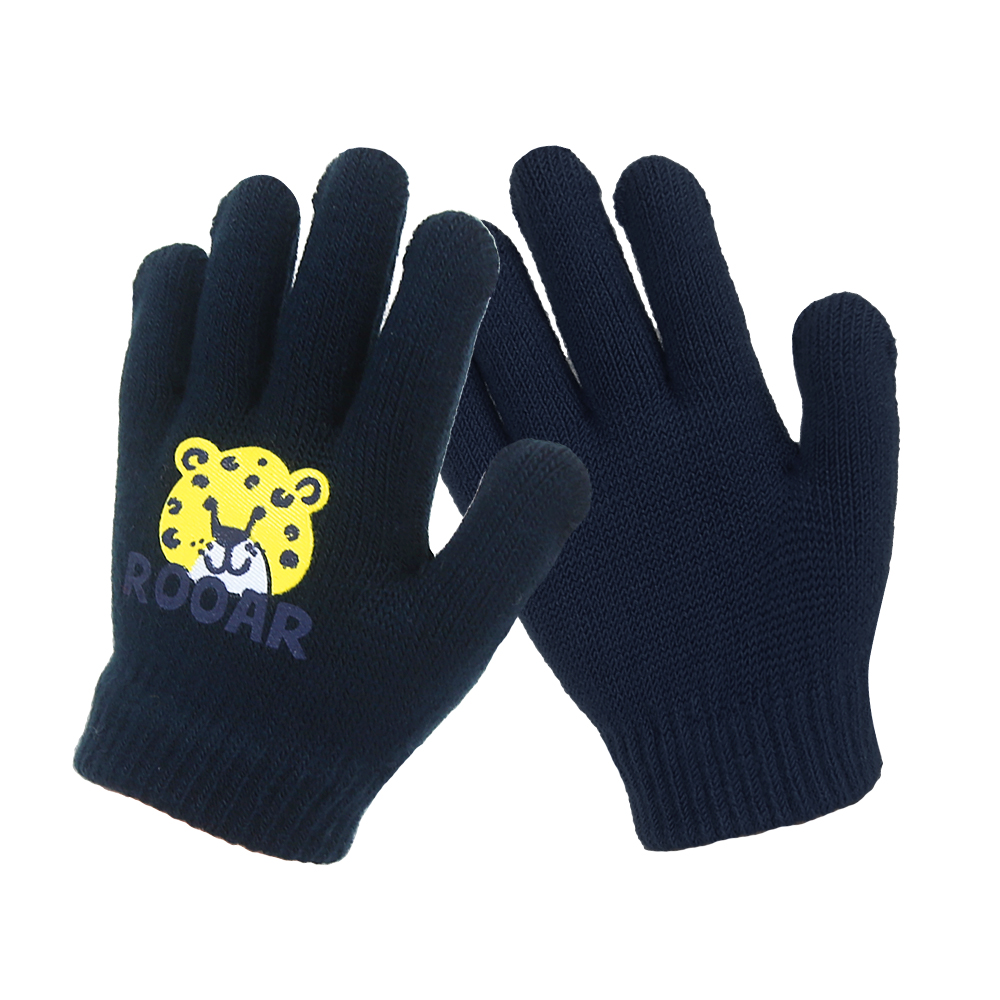 Navy Thermal Finger Kids Magic Gloves for Outdoor