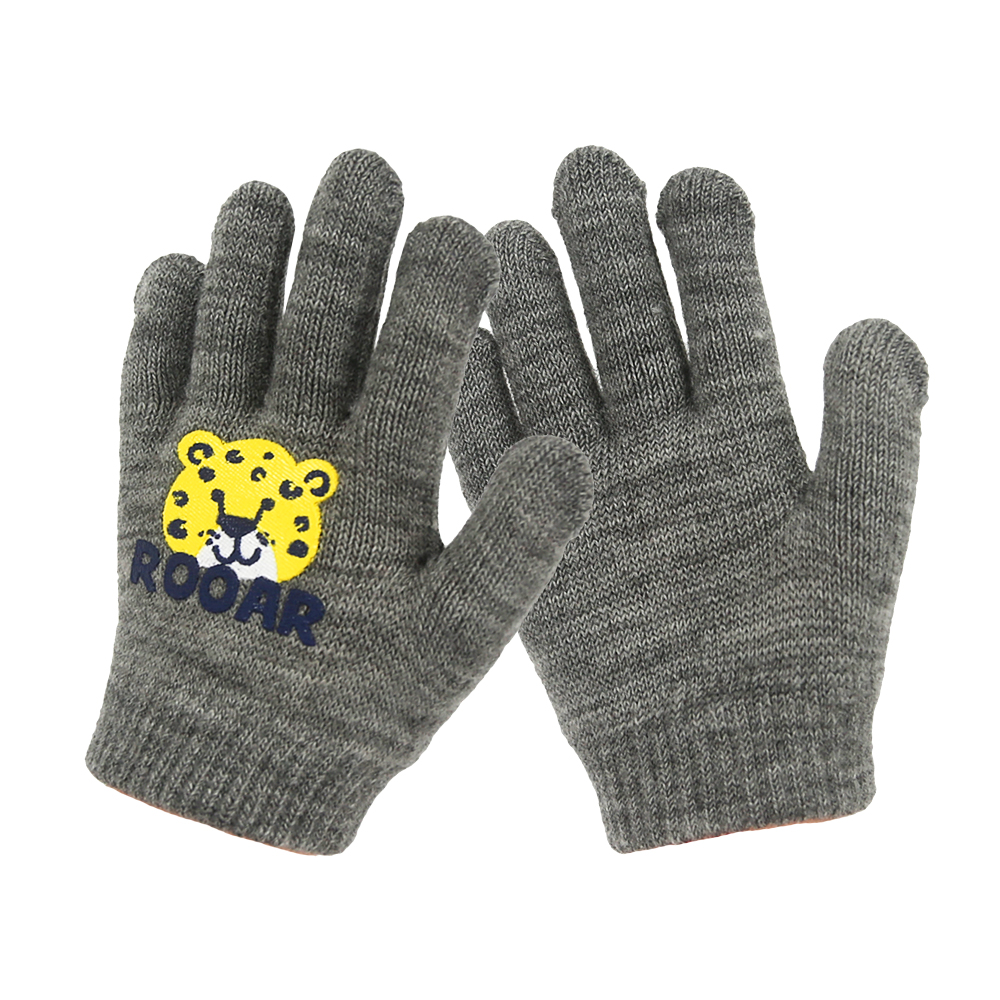 Grey Thermal Finger Kids Magic Gloves for Outdoor