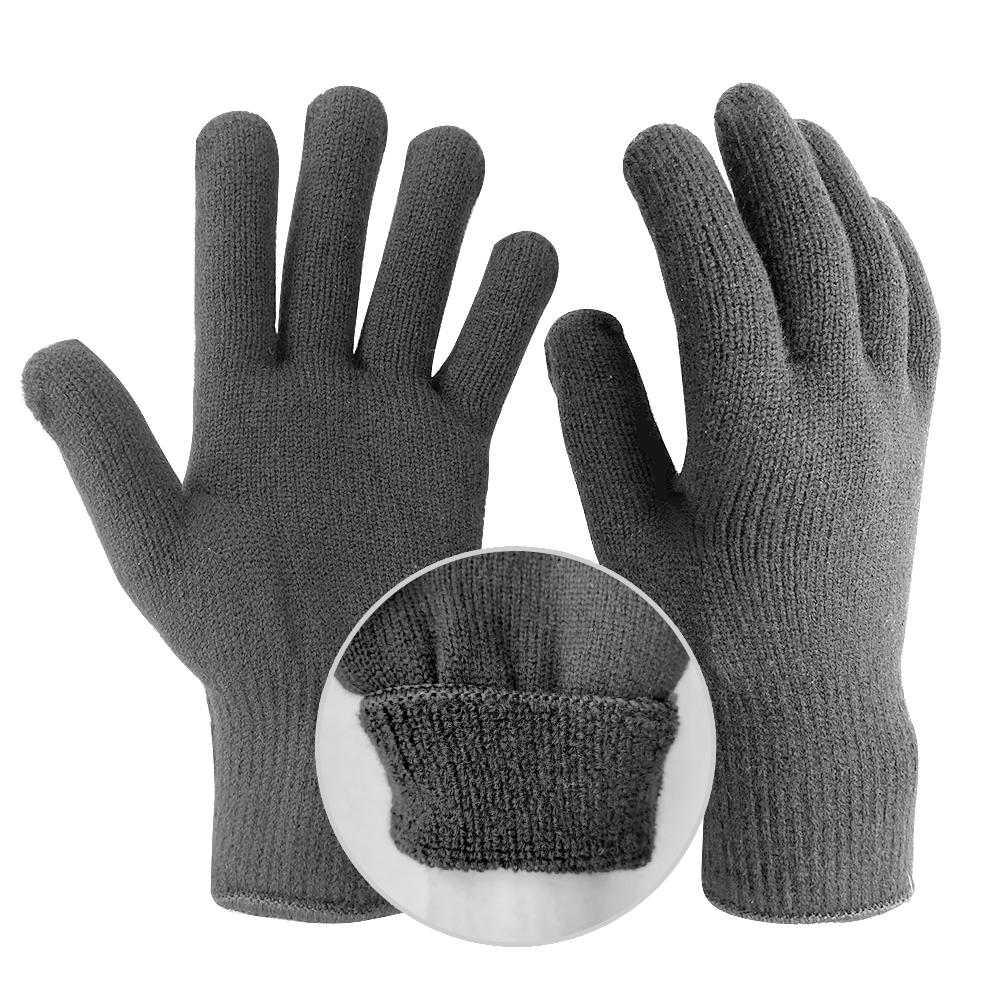 裏パイル編みマジック手袋 防寒 耐熱 分厚い クッション性