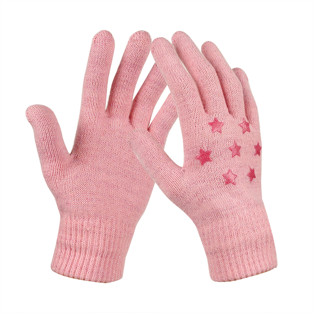 Pink Silicone Printed Ladies Magic Gloves for Outdoor