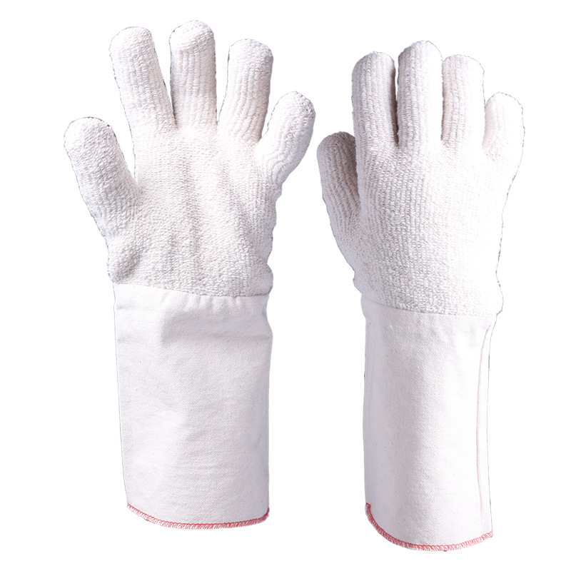 Terry Loop Welding Heat Resistant Gloves with Long Cuff