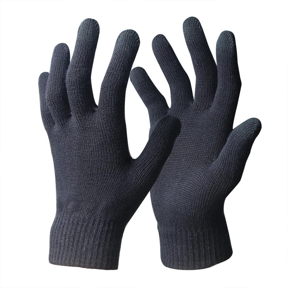 Gray 抗菌防臭 吸湿発熱手袋 10Gスマホ対応手袋 のびのびマジック手袋 コロナ対策 防寒 暖かい