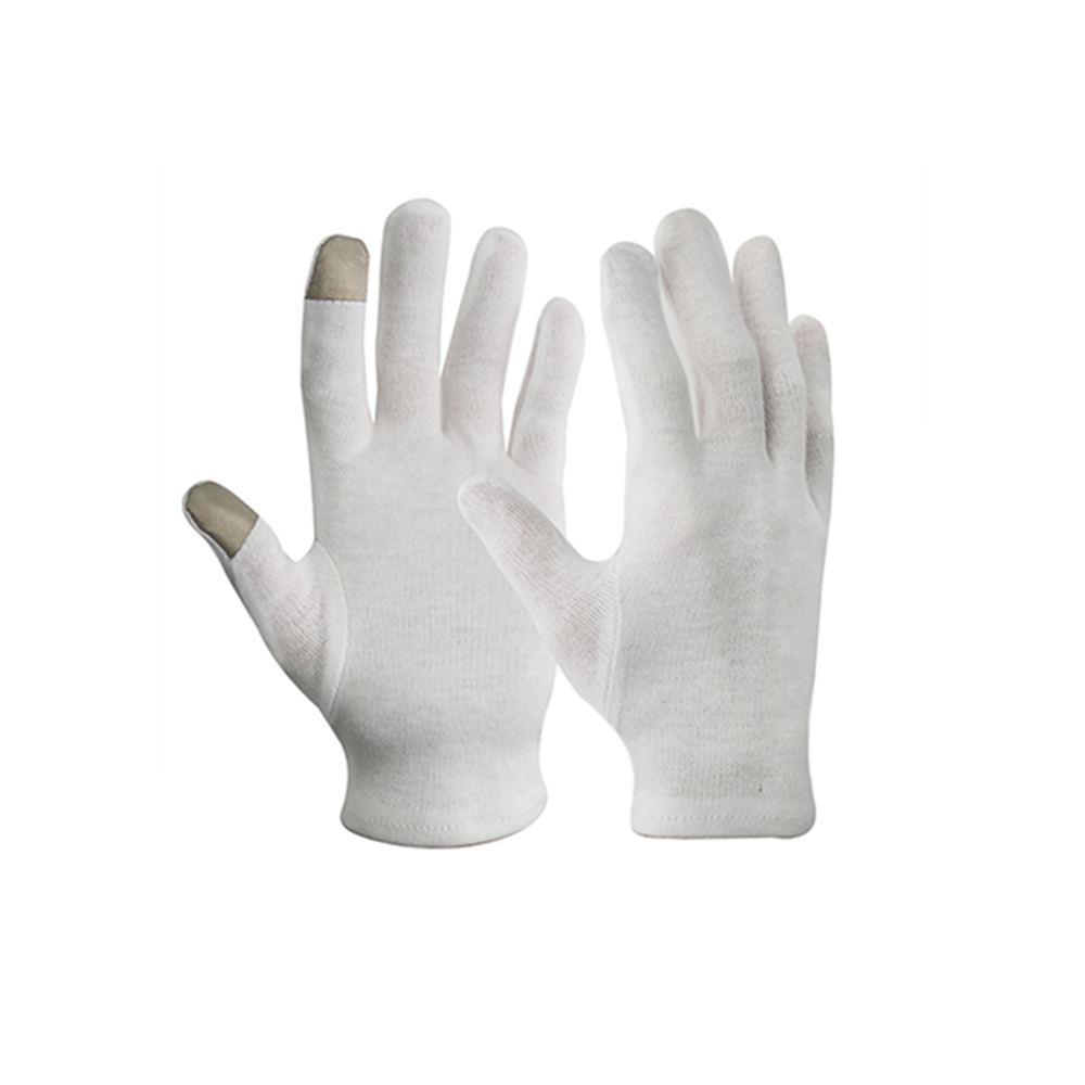 High Quality Touch Screen Light Weight 100% Cotton Knitted Antibacterial Work Gloves