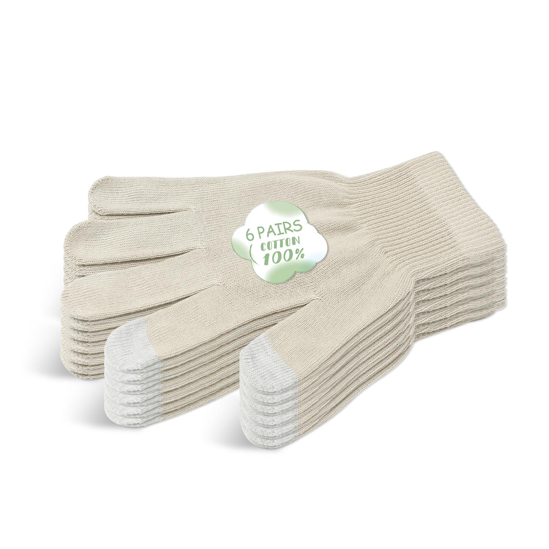 Beige Beauty Cotton Gloves for Men/BCG-002-3