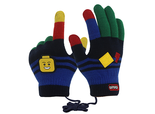 Kids Touch Screen Glove Embroidered Leather Label Gloves