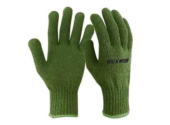Customizable Cold storage liner wear warm Wool Nylon String Knit work gloves