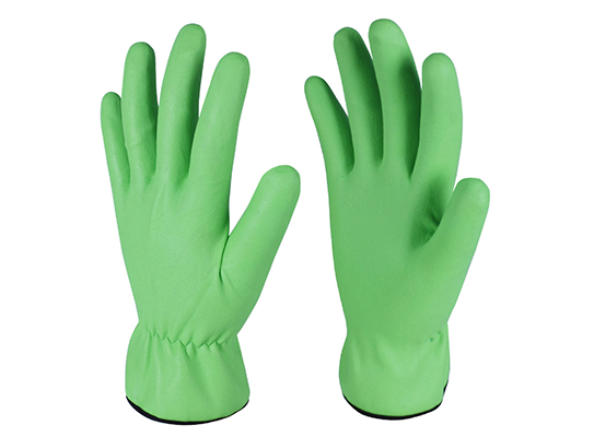 15G Nylon Spandex Green Color Full Dipping Nitrile Coated Safety Working Protective Gloves for Driver