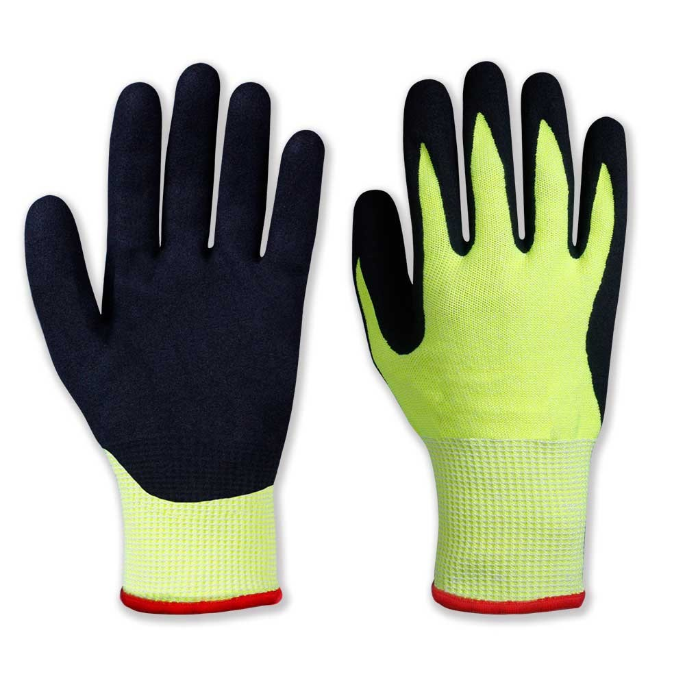 NCG-042 Double Layer Nitrile Coated Safety Work Gloves