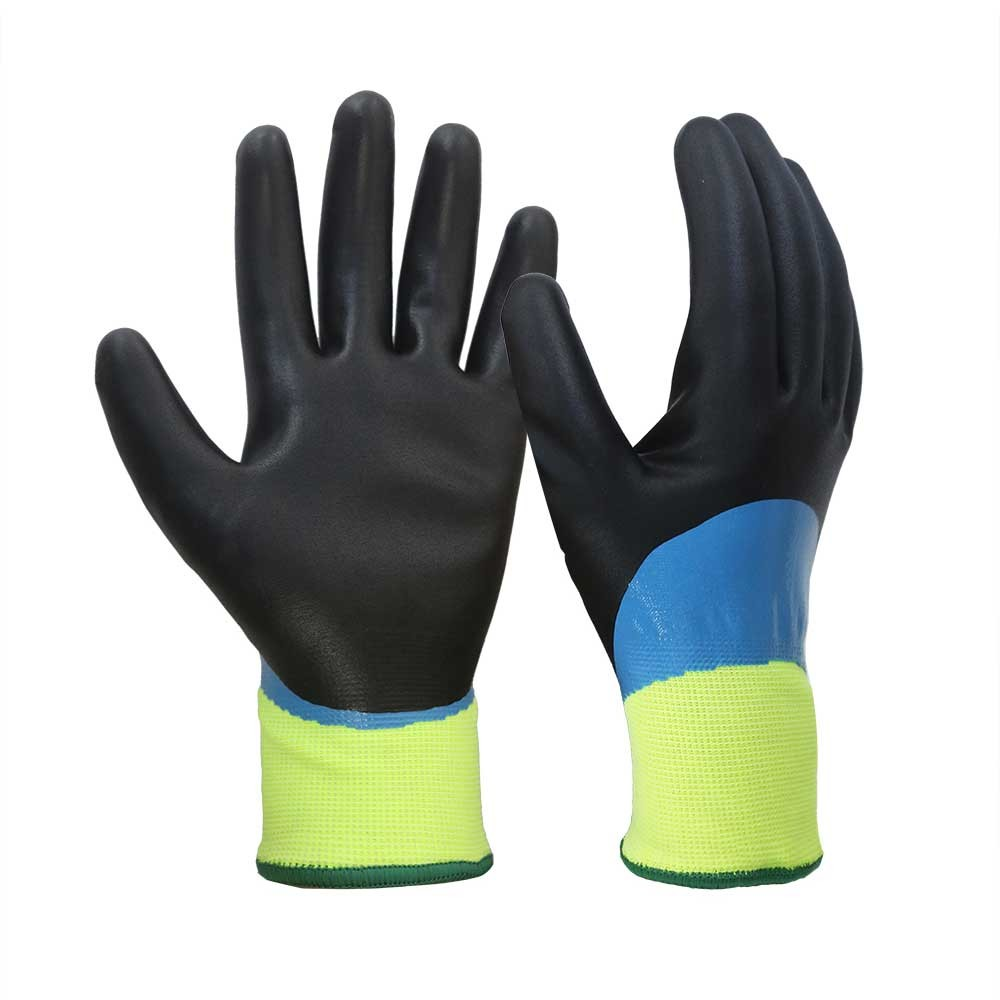 NCG-041 Waterproof Nitrile Coated Safety Work Gloves