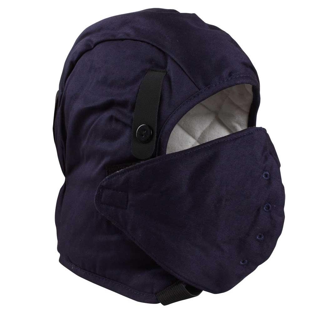 Fire Resistant Dark Blue Hard Hat Liner with Mask/HHL-001