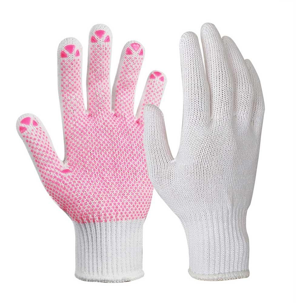 SKG-032 Light Weight 10G Bleach White Poly/Cotton Gloves