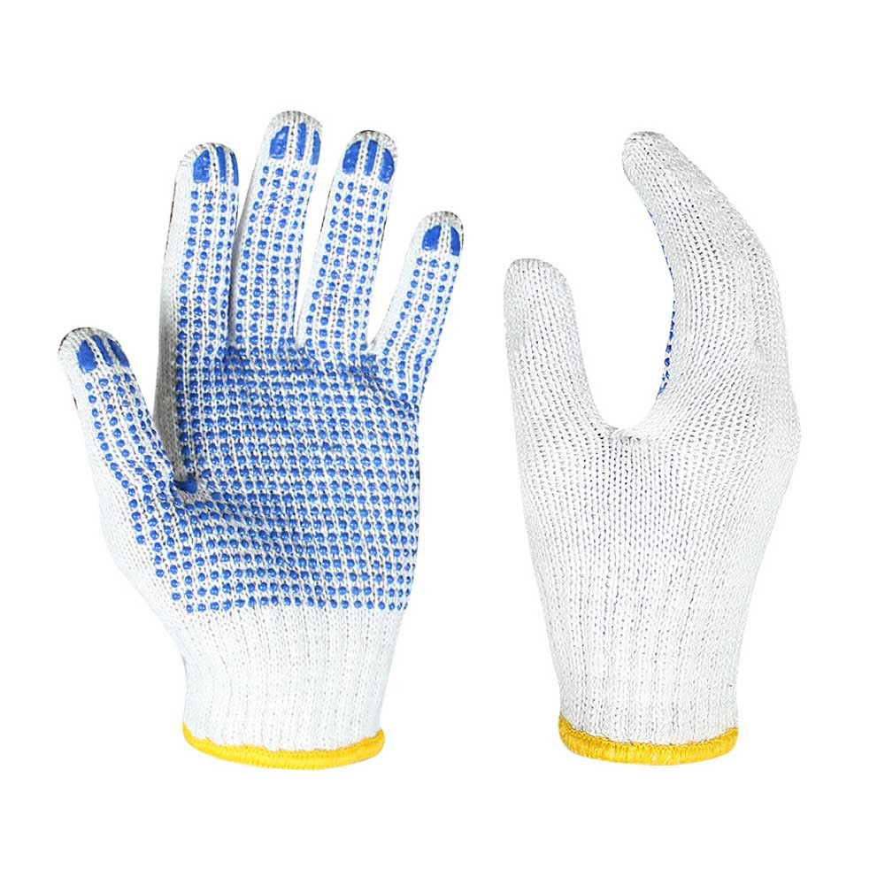 SKG-021 7G Poly/cotton Gloves with PVC on Palm