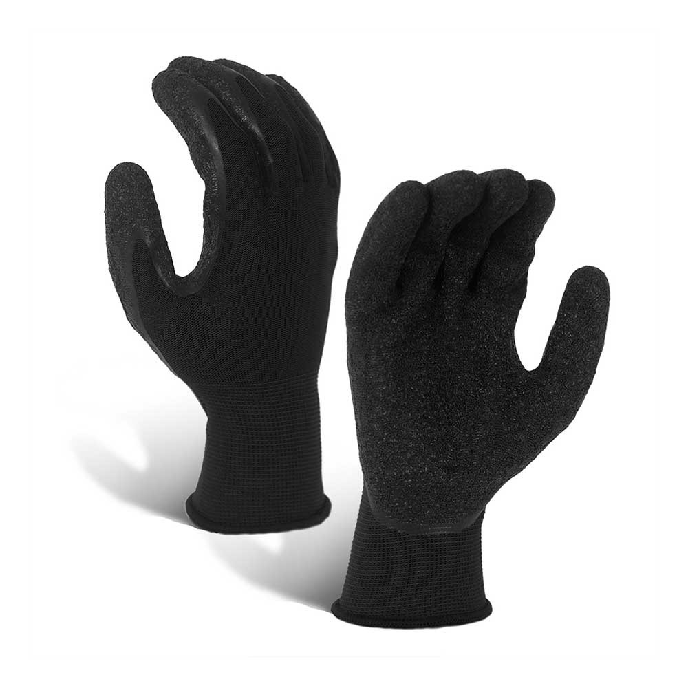 LCG-016-B Wrinkle Latex Coated 13G Polyester Gloves