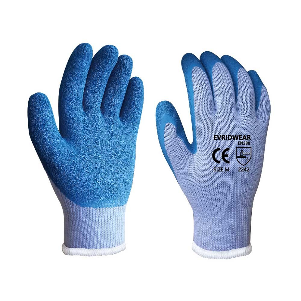LCG-014 Latex Coated String Knit Safety Work Gloves