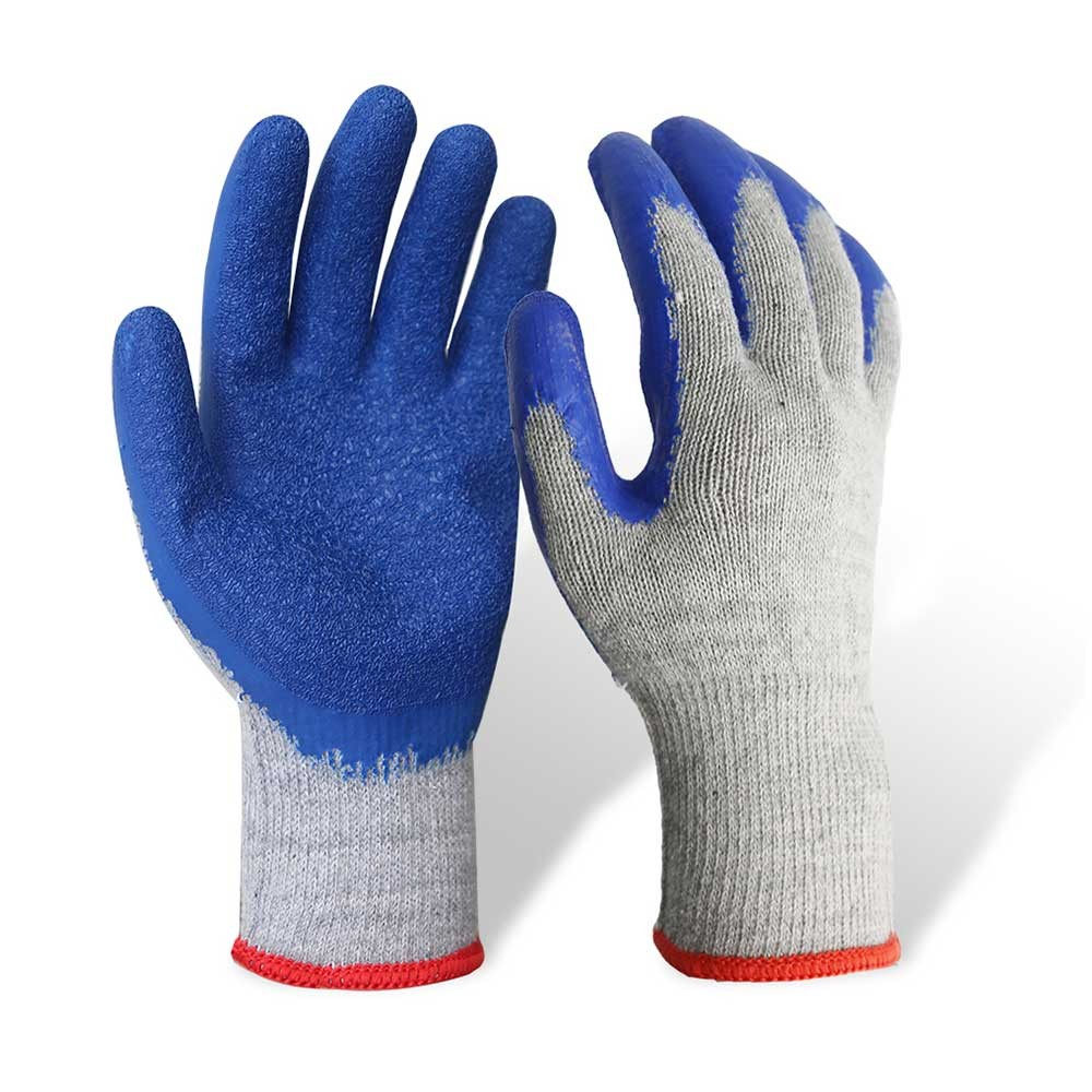 LCG-006 Latex Coated String Knit Safety Work Gloves